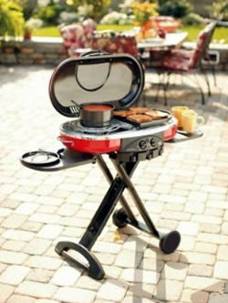 One of many availabe portable grills