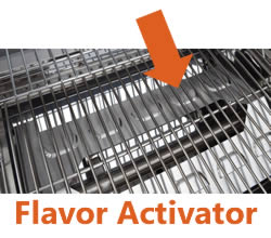 Image depicting the flavor activator plate and its placement on the Smoke Hollow 205