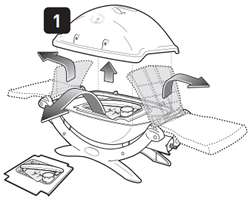 Assembly starting point as depicted in the user manual